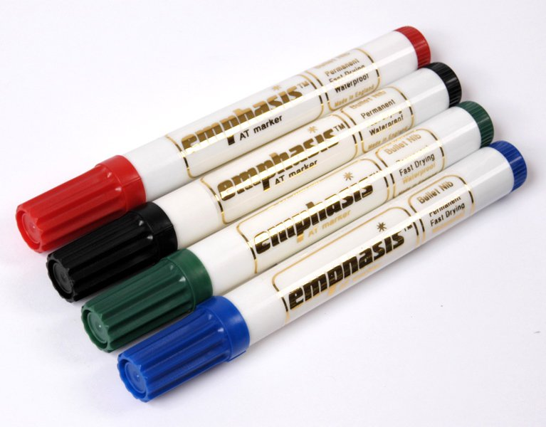 Emphasis Permanent Marker Pen - Bullet Tip - Green - AT