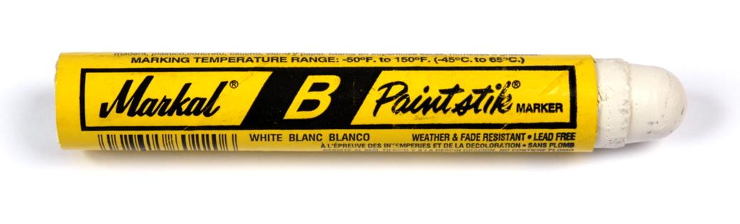Markal B Paintstik Marker - White