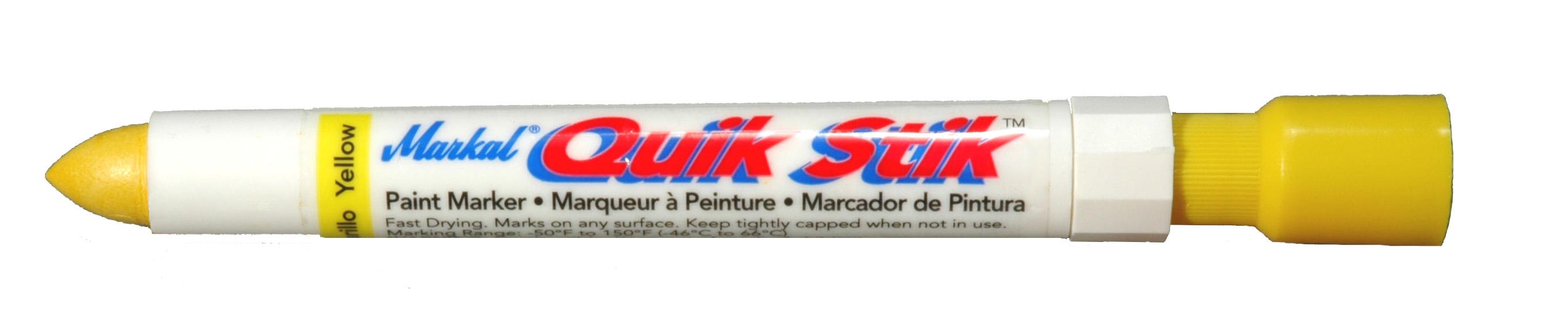 Markal Quik Stik Paint Marker - White