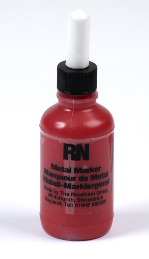 Britink Metal Marker (Ball Paint Marker) - Toughpoint Tip - Red