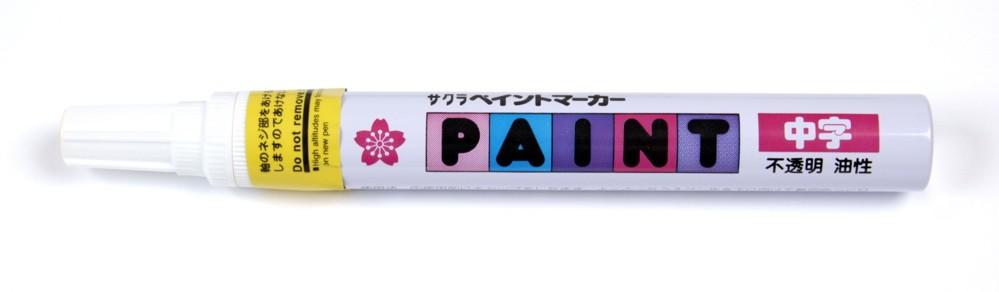 Sakura Liquid Paint Marker - Fine Tip - Fluorescent Yellow