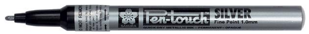 Sakura Pen Touch Permanent Marker - Fine Tip - Silver