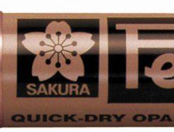 Sakura Pen Touch Permanent Marker - Medium Tip - Silver