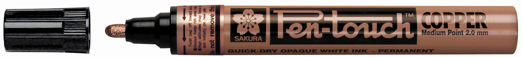 Sakura Pen Touch Permanent Marker - Medium Tip - Silver